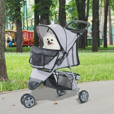 Pawhut Hundewagen   Stroller   Jogger   99 x 45 x 86 cm   Grau