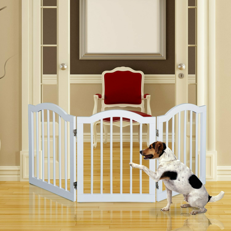 PawHut® Absperrgitter Hundegitter 154,5cm faltbar Weiss