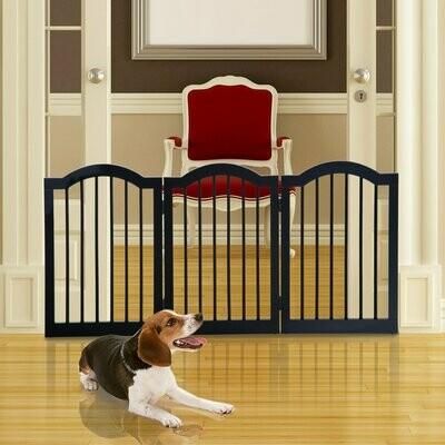 PawHut® Absperrgitter Hundegitter 154,5cm faltbar Schwarz