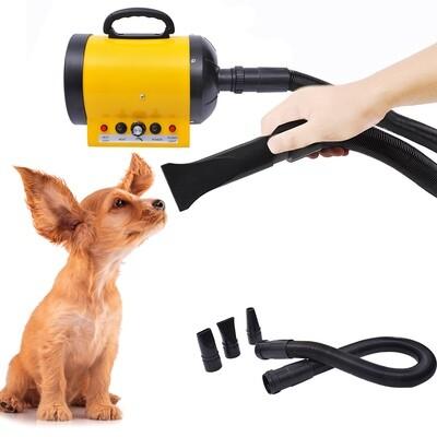 PawHut® Profi Hundeföhn, Tierfön: 2400W in Gelb/Schwarz