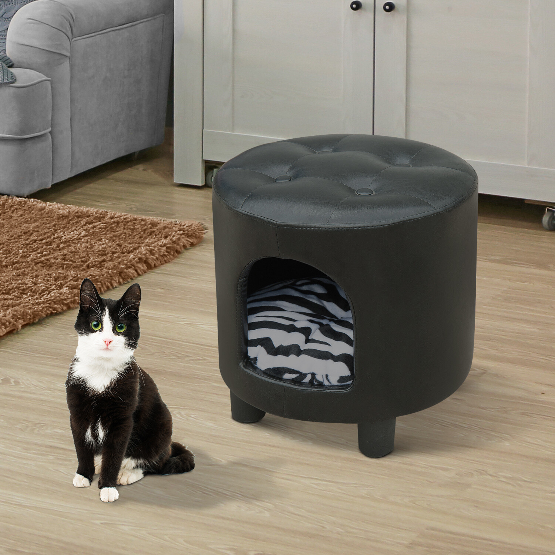 PawHut® Tierhaus Hundebett Katzenhöhle Hocker multifunktional