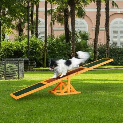 PawHut® Hundewippe Hunde Agility Wippe Welpenspielzeug Hundesport