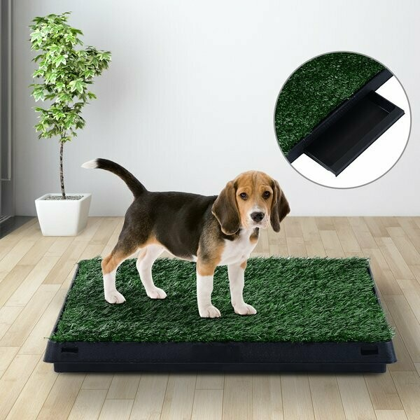 PawHut® Welpentoilette Hundetoilette Hundeklo Welpen Hunde WC Kunstgras 63x51cm