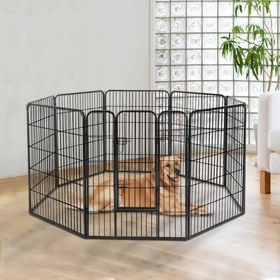PawHut® Welpenauslauf, Freilaufgehege für Kaninchen, Welpen und Kleintiere 80x100cm