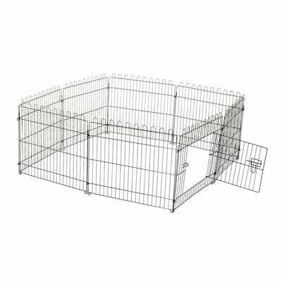 PawHut® Welpengitter Freilaufgehege Hasen Kaninchen 71x61cm
