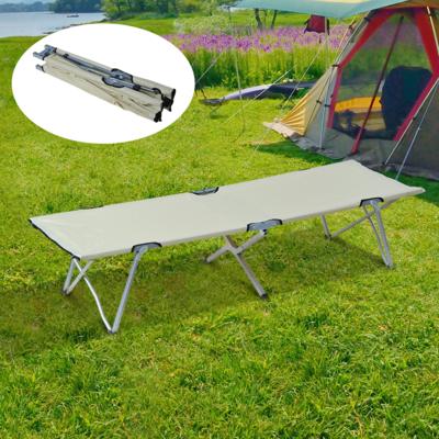 Outsunny® Feldbett Campingbett Liege Klappbett mit Tasche Beige