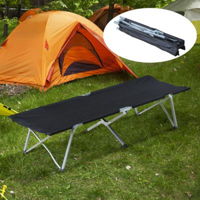 Outsunny® Feldbett Campingbett Liege Klappbett mit Tasche Schwarz