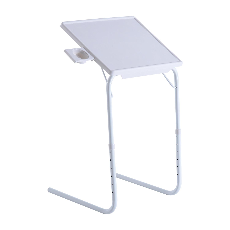 Outsunny® 2er Set Klapptisch Campingtisch Metall Weiß höhenverstellbar