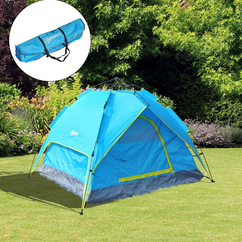 Outsunny® Campingzelt Pop Up Zelt Automatisch 3-4 Personen