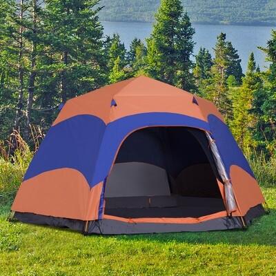 Outsunny® Quick-Up-Zelt Doppelwandzelt Outdoor wasserdicht mit Tragetasche Moskitonetz