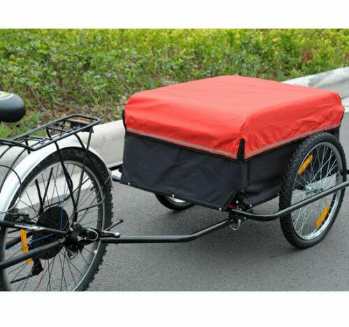 HOMCOM® Transport- Lastenanhänger   Velo-Anhänger Fahrradanhänger   140 x 88 x 60 cm
