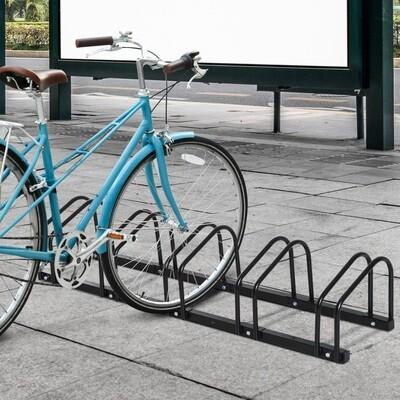 HOMCOM® Fahrradständer Velo-Ständer 5 Fahrräder Schwarz