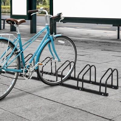 HOMCOM® Fahrradständer Velo-Ständer 6 Fahrräder Schwarz