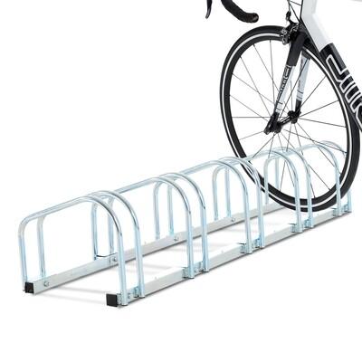 HOMCOM® Fahrradständer Velo-Ständer 5 Fahrräder Stahl verzinkt
