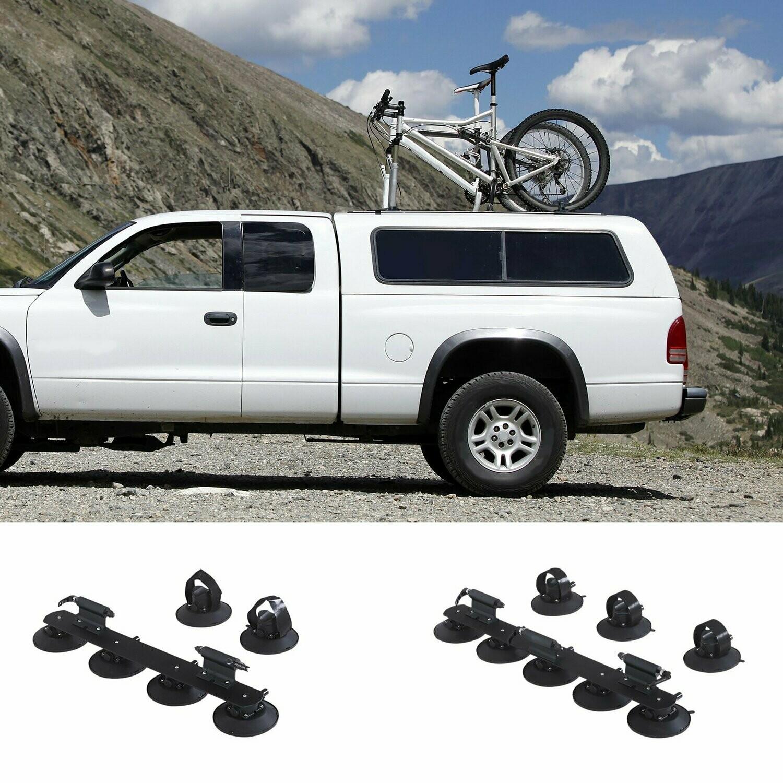 HOMCOM® Fahrrradträger Dachträger Fahrradhalter mit Schnellspanner 3 x Fahrrad Alu Schwarz L92 x B15 x H13 cm