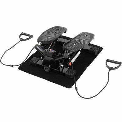 HOMCOM® Mini Stepper Sidestepper inkl. Trainingsbänder schwarz