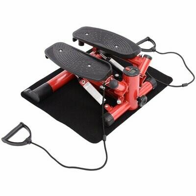 HOMCOM® Mini Stepper Heimtrainer Sidestepper inkl. Trainingsbänder