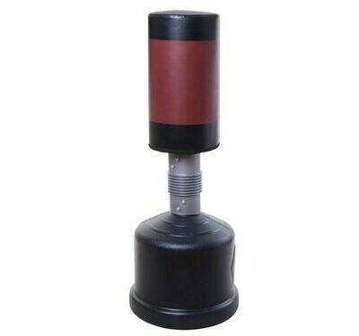 HOMCOM® Standboxsack | Veganleder, Kunststoff | 160–185 cm | Schwarz, Rot