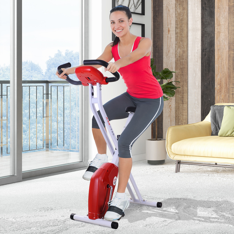 HOMCOM® Heimtrainer Ergometer Hometrainer Fitnessbike Fitnessfahrrad klappbar Stahl