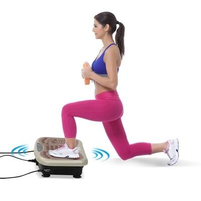 HOMCOM® Vibrationsplatte Vibrationstrainer Vibrationsgerät LED-Anzeige USB-Lautsprecher Trainingsbänder Fernbedienung