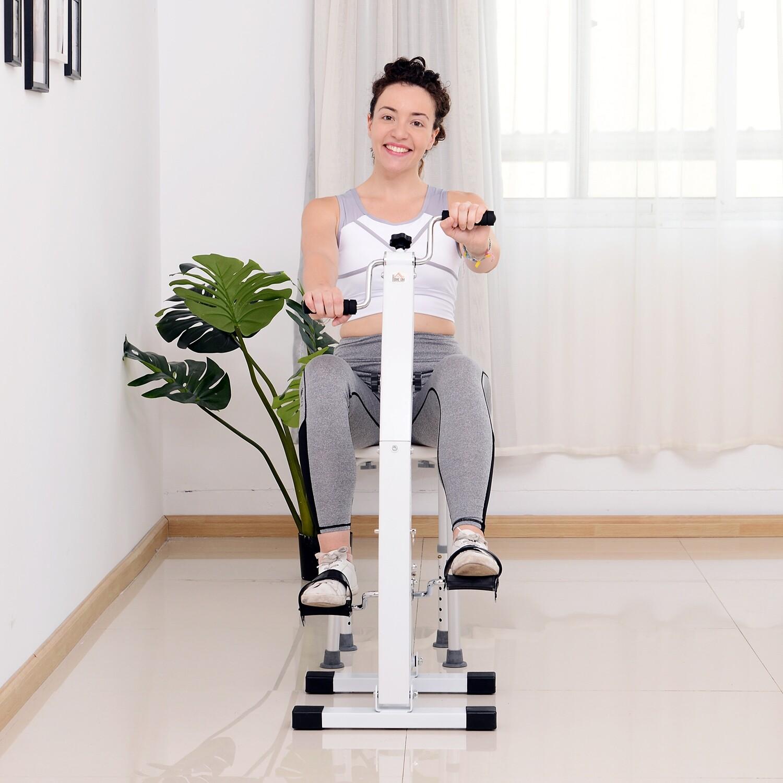 HOMCOM® Heim Bewegungstrainer für Senioren | Pedaltrainer | 41 x 50 x 96 cm | Weiß