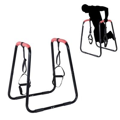 HOMCOM® Dip Ständer Dipstation mit Schlaufen Bauchtrainer