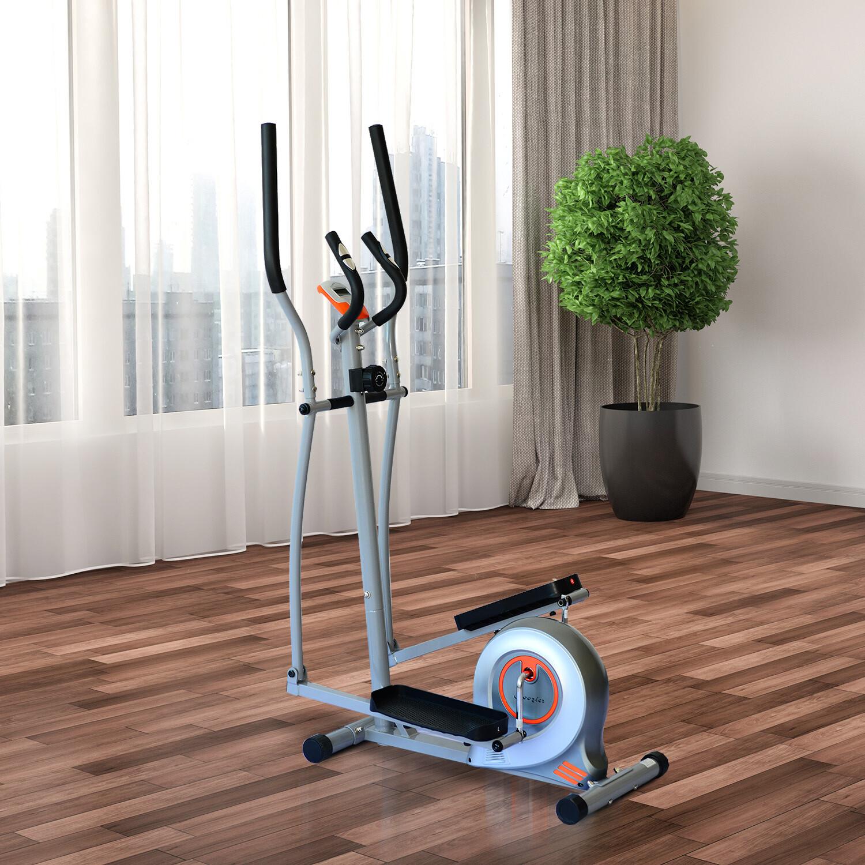 HOMCOM® Heimtrainer Crosstrainer Fitnessgerät LCD Display Puls