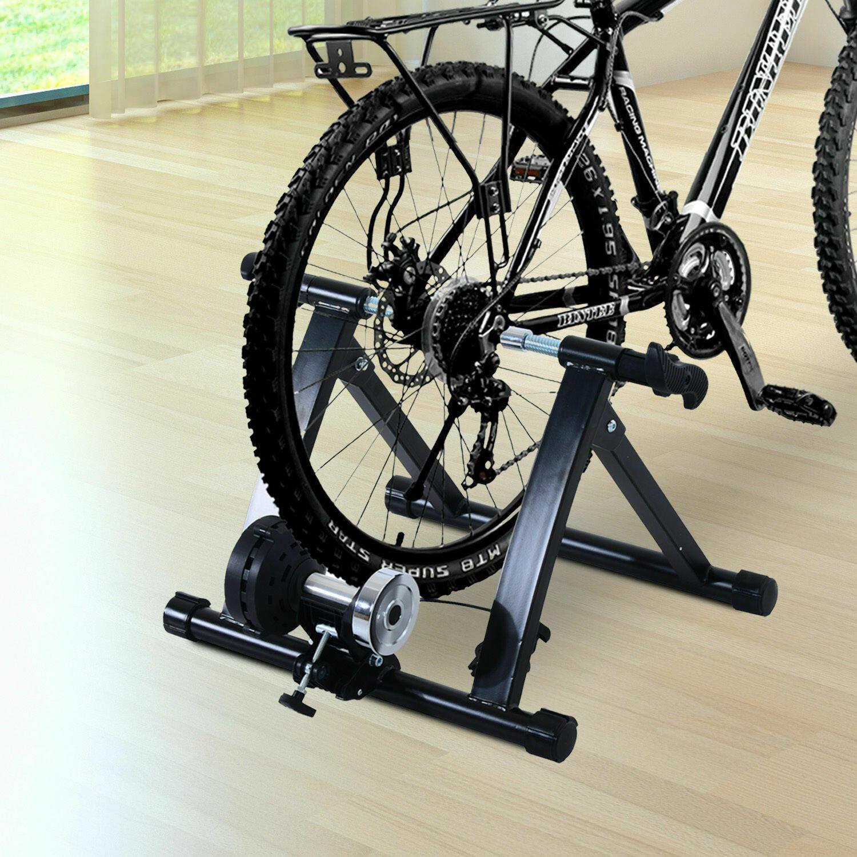 HOMCOM® Velo-Rollentrainer Fahrrad mit Magnetbremse schwarz
