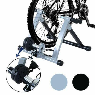 HOMCOM® Velo-Rollentrainer mit Magnetbremse Rolle schwarz-silber