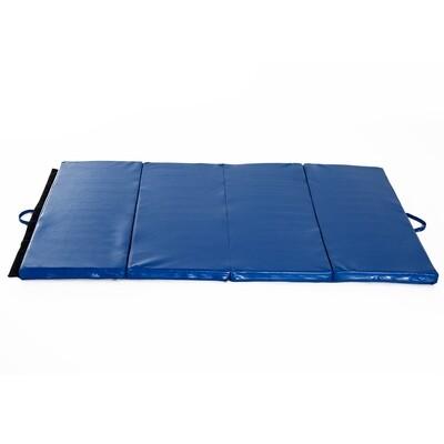HOMCOM® Turnmatte Gymnastikmatte Fitnessmatte Bodenmatte Weichbodenmatte 4 Fach klappbar blau
