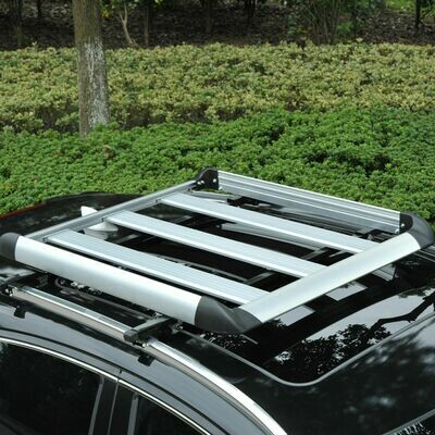 HOMCOM® Gepäckträger Dachträger Universal 110cm Alu 75kg Silber