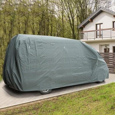 HOMCOM® Abdeckung Schutzhülle für Wohnmobil Grau 762x225x220cm