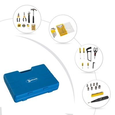 DURHAND® Werkzeugkoffer Set 44-teilig Werkzeugkiste Werkzeugkasten Blau