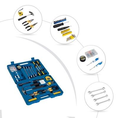 DURHAND® Werkzeugkoffer Set 92-teilig Werkzeugkiste Werkzeugkasten Blau
