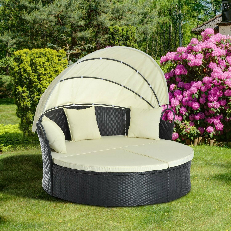 Outsunny® Sonneninsel Lounge Sonnenliege Wicker Polyrattan