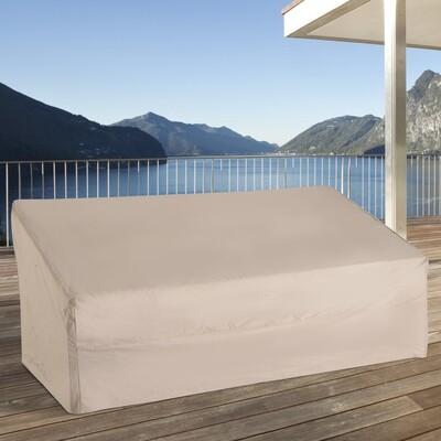 Outsunny® Abdeckung Gartenmöbel Schutzhülle 3er Sofa Beige