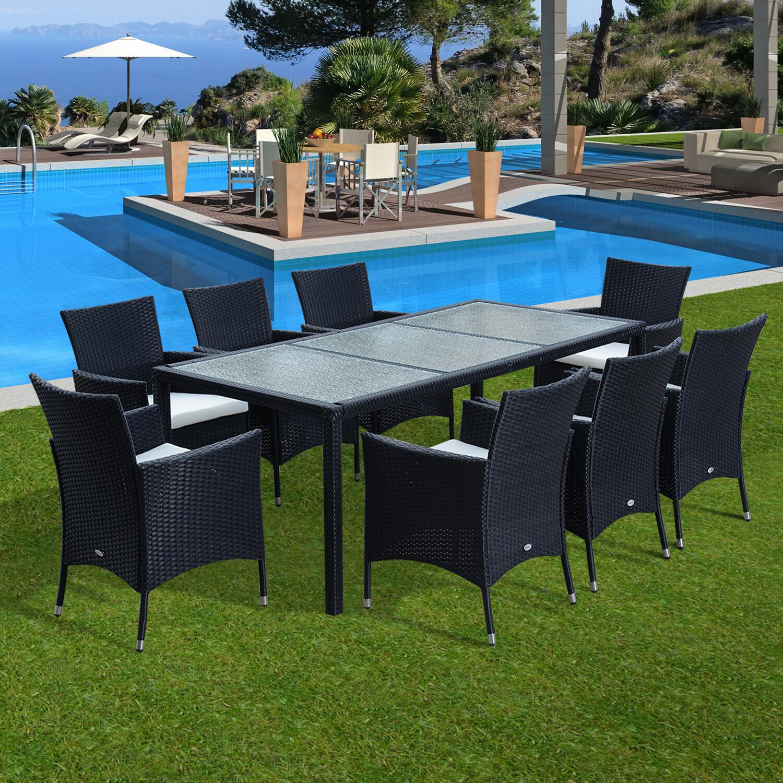 Outsunny® 9 tlg. Gartenset Sitzgruppe Wicker Polyrattan