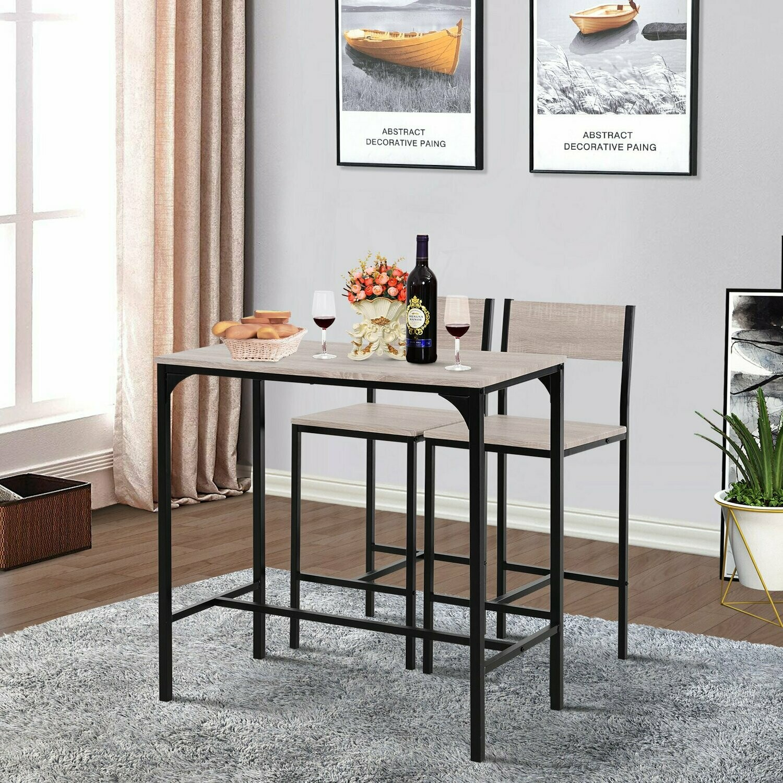 homcom® barstuhl barhocker küchentisch bartisch mit 2