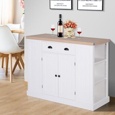 HOMCOM® Küchenschrank Küchenregal Unterschrank mit Schublade Anti-Kipp MDF Weiss