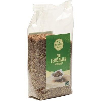 Grosspackung natürlich für uns Bio Leinsamen geschrotet 10 x 250 g = 2.5 kg