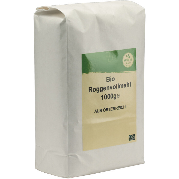 Grosspackung natürlich für uns Bio Roggenvollmehl 10 x 1 kg = 10 kg