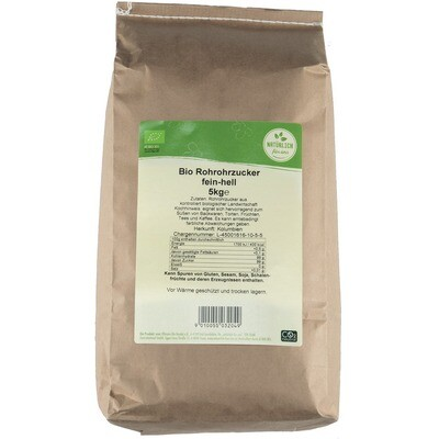 Grosspackung natürlich für uns Bio Rohrzucker fein weiss 5 kg