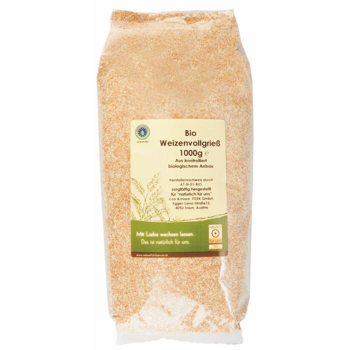 Grosspackung natürlich für uns Bio Weizenvollgriess 10 x 1 kg = 10 kg