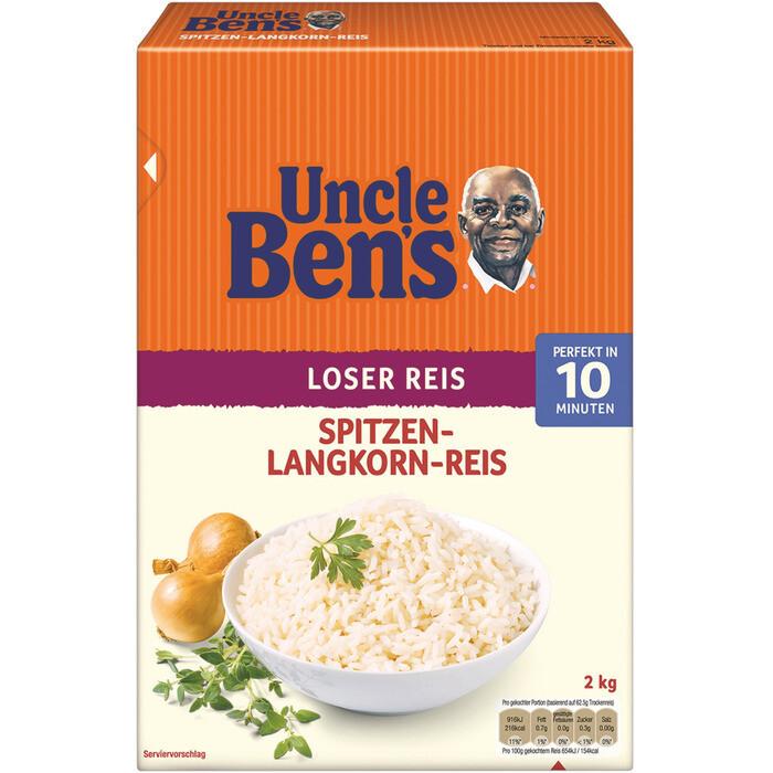Grosspackung  Uncle Bens Langkornreis 10 Minuten 6 x  2 kg = 12 kg