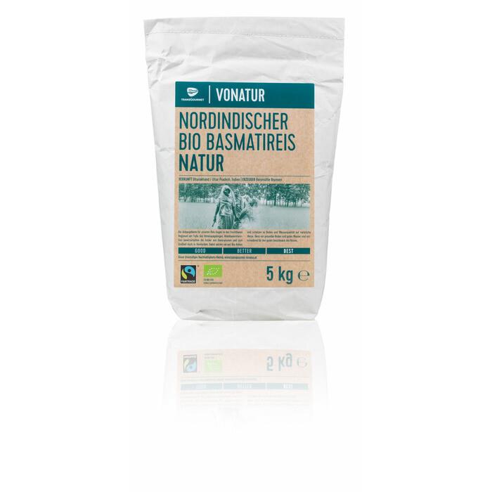 Grosspackung Vonatur Bio Basmati natur 5 kg