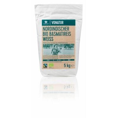 Grosspackung Vonatur Bio Basmati weiss 5 kg