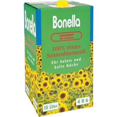Grosspackung Bonella Sonnenblumenöl 10 l Bibox
