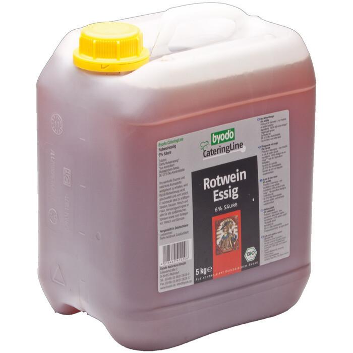 Grosspackung Byodo Bio Rotweinessig 6% Säure 5 l