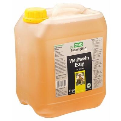 Grosspackung Byodo Bio Weisweinessig 6% Säure 5 l