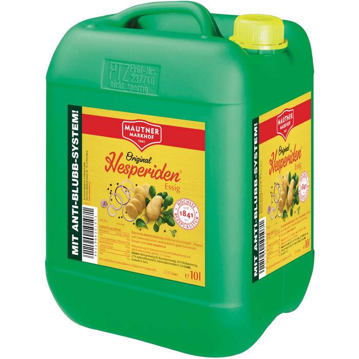 Grosspackung Mautner Markhof Hesperiden Essig 7,5 % 10 Liter
